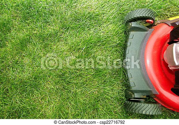pelouse, mower. - csp22716792