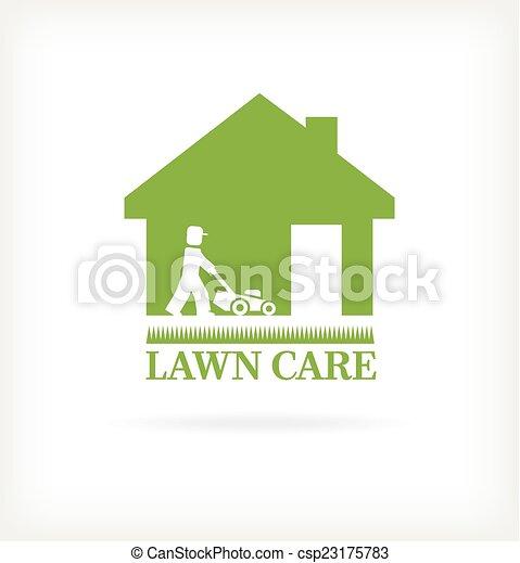 pelouse, symbole, soin - csp23175783