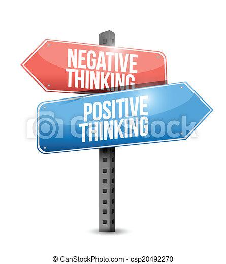 pensée, positif, rue, négatif - csp20492270