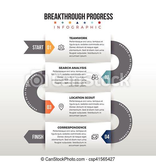 percée, progrès, infographic - csp41565427