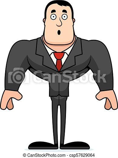 personne affaires, dessin animé, surpris - csp57629064