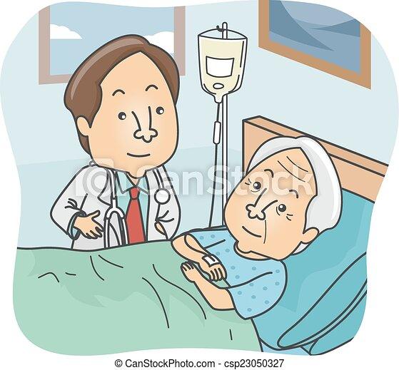 personne agee, patient - csp23050327