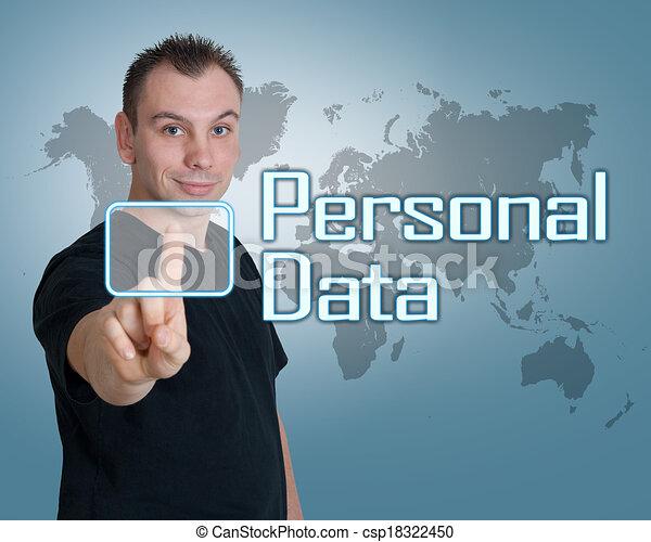personnel, données - csp18322450