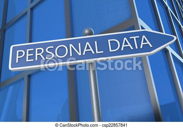 personnel, données - csp22857841