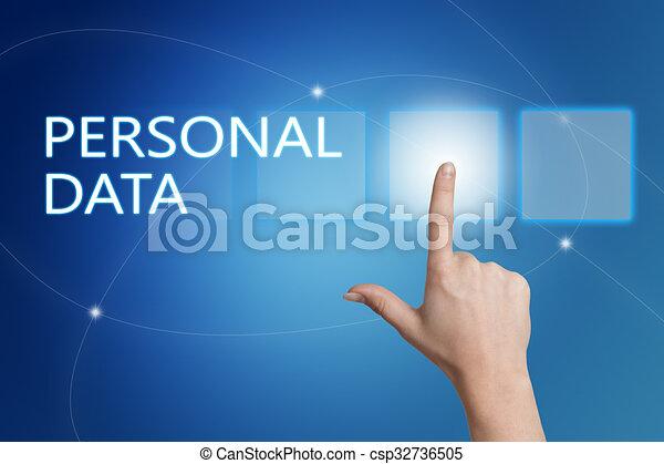personnel, données - csp32736505