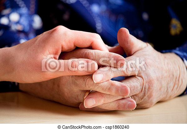 personnes âgées soucient - csp1860240