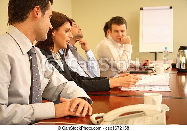 personnes réunion, simple, business - csp1672158