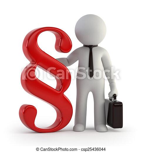 petit, 3d, -, avocat, gens - csp25436044