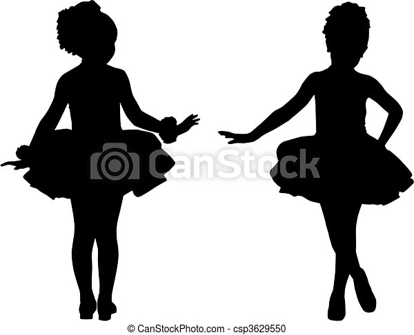 petit, ballerines, silhouette - csp3629550