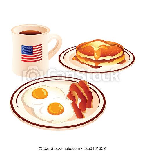 petit déjeuner américain - csp8181352