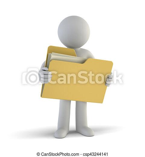 petit, fichiers, 3d, -, gens - csp43244141