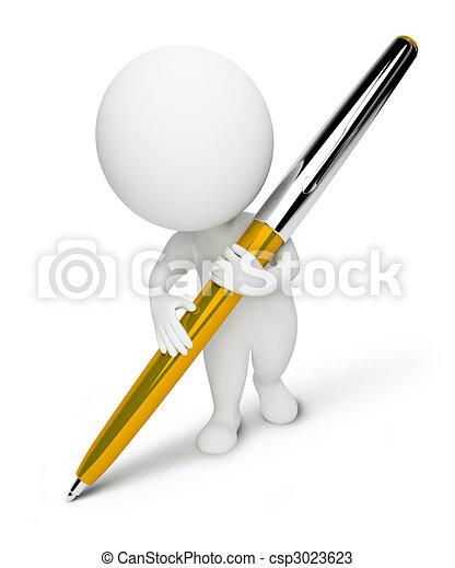 petit, people-pen, 3d - csp3023623