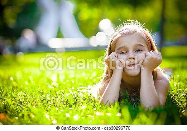 petite fille, joli - csp30296770
