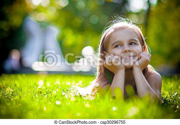 petite fille, joli - csp30296755