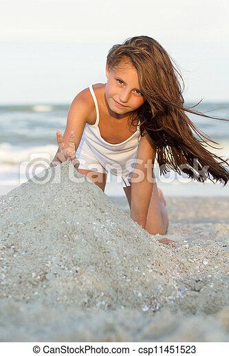 petite fille, joli - csp11451523