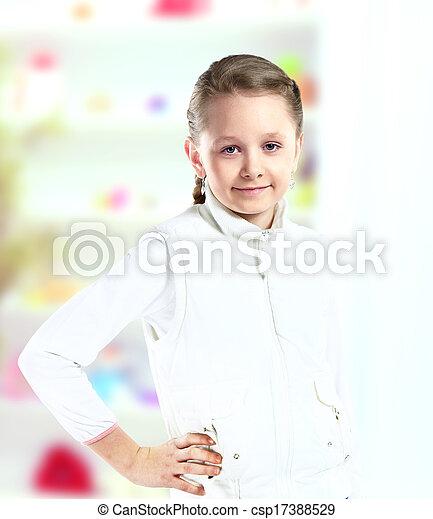 petite fille, joli - csp17388529