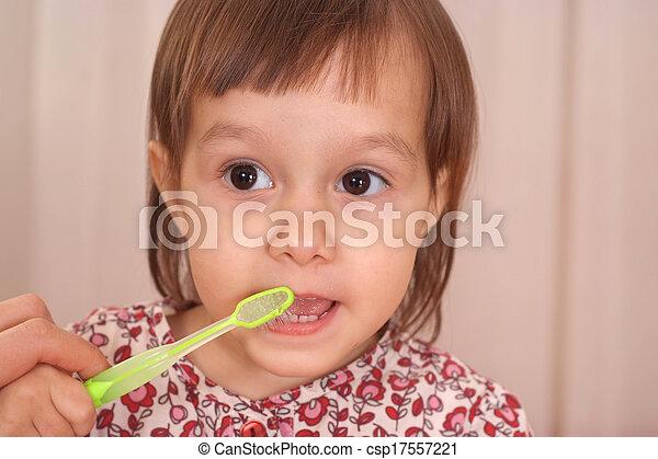 petite fille, joli - csp17557221