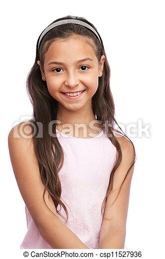 petite fille, joli - csp11527936