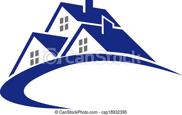 petite maison, maison, symbole, moderne, ou - csp18932395