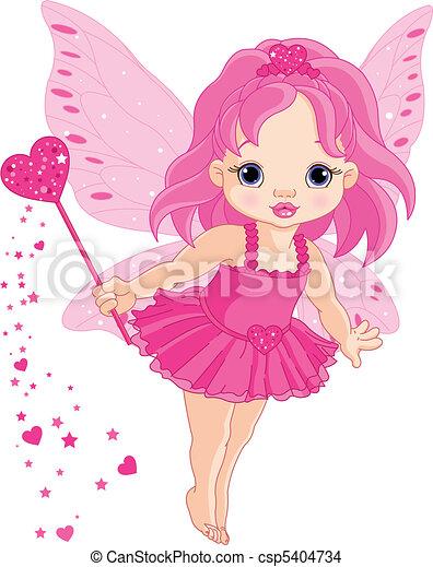 peu, fée, amour, bébé, mignon - csp5404734