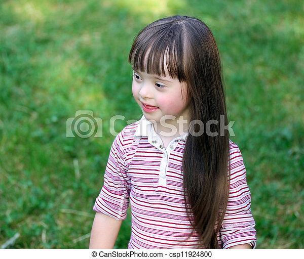 peu, parc, girl - csp11924800