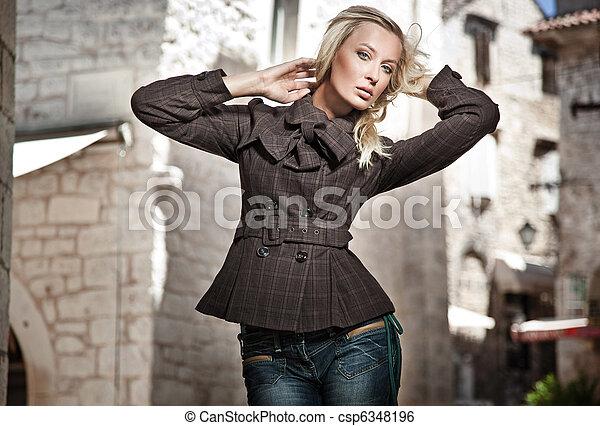 photo, style, mode, jeune fille - csp6348196