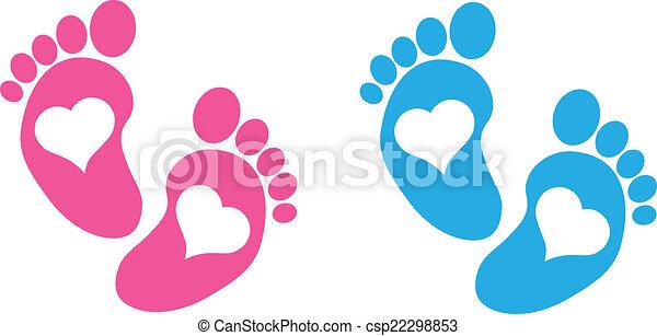 pieds bébé - csp22298853