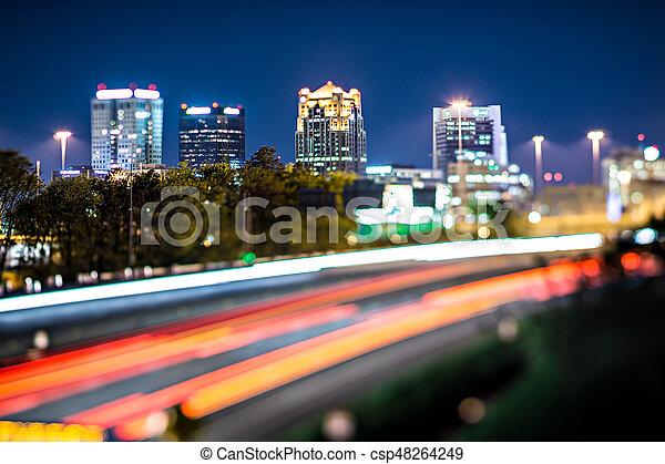 pistes, autoroute, horizon ville, birmingham, trafic, alabama - csp48264249