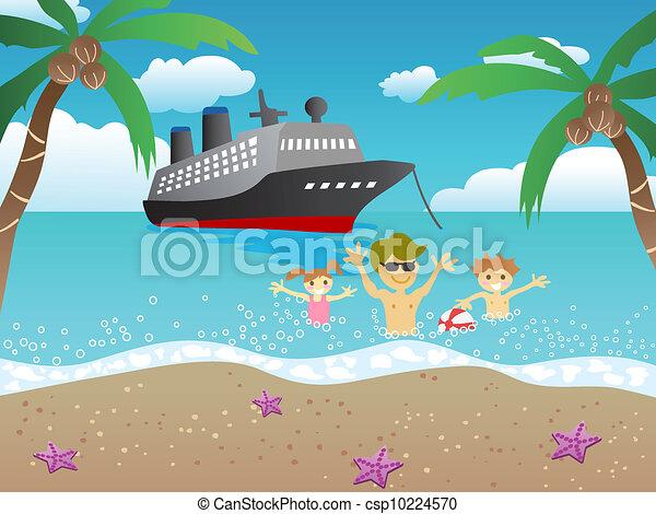 plage, croisière - csp10224570