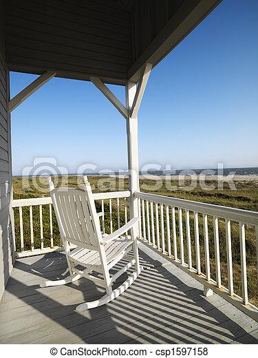 plage., porche - csp1597158