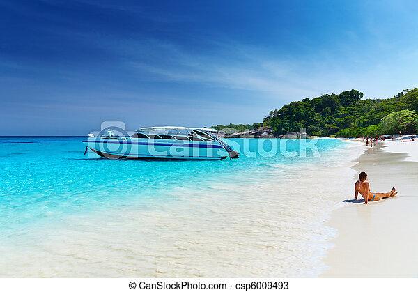 plage, thaïlande, exotique - csp6009493
