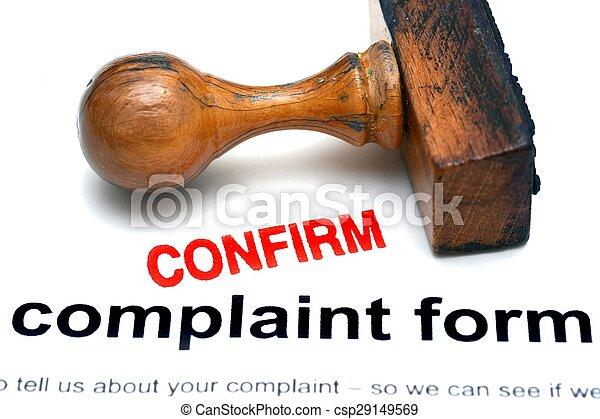 plainte, formulaire, confirmer - csp29149569