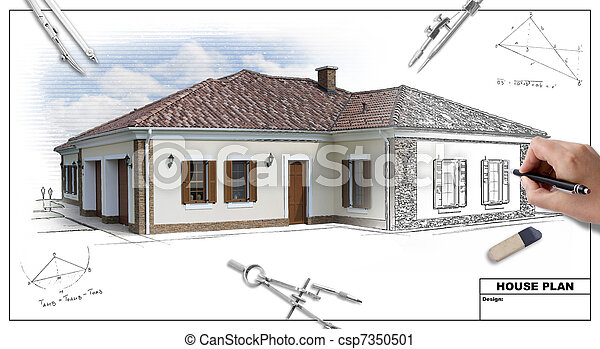 plan, 2, maison - csp7350501