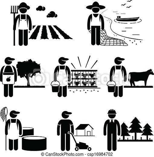 plantation, métier, agriculture, agriculture - csp16984702