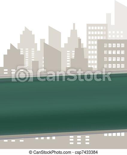 plaque, rue, vert, signe - csp7433384