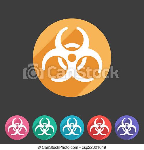 plat, biohazard, écusson, icône - csp22021049