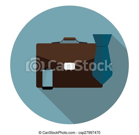 plat, illustra, business, long, proces, vecteur, icône, ombre - csp27997470