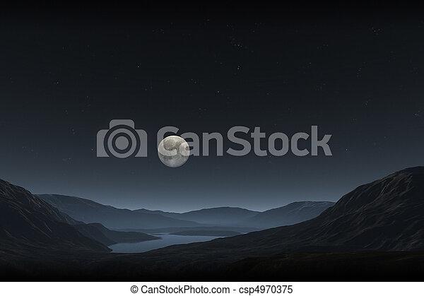 pleine lune - csp4970375