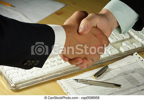 poignée main, business - csp0598958