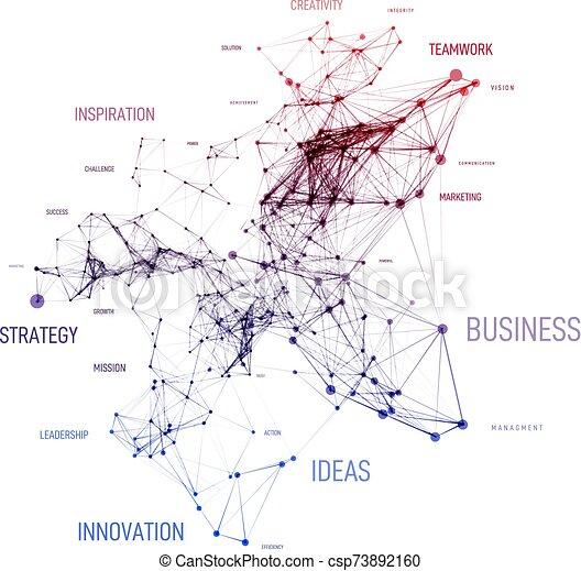 point, concept, vecteur, géométrique, plexud, solution, business, ligne, nuage, étiquette, connection., données, fond, grand, mot - csp73892160