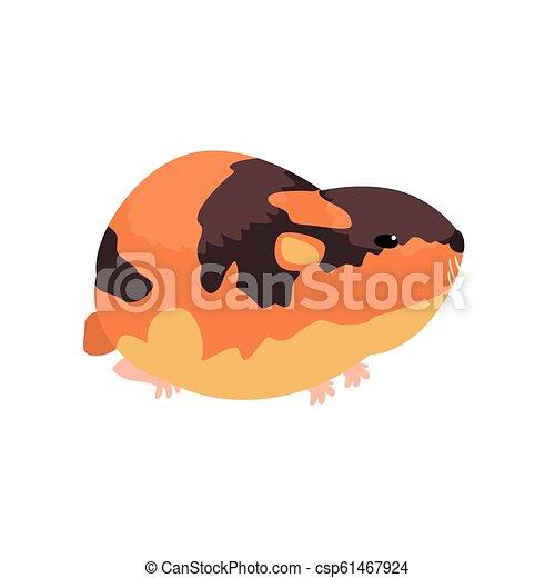 polaire, animal, arctique, lemming, vecteur, illustration, fond, blanc - csp61467924