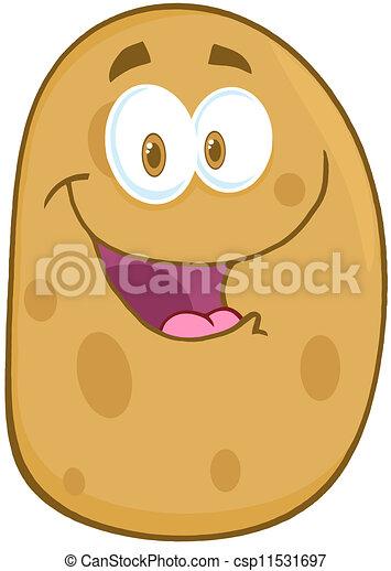pomme terre, caractère, dessin animé, mascotte - csp11531697