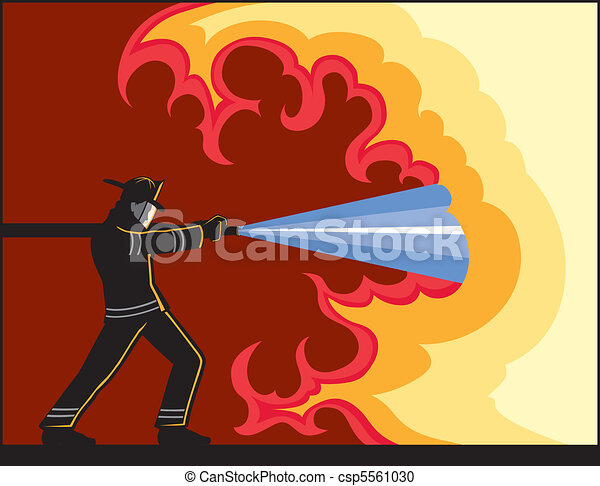 pompier, combat tir - csp5561030
