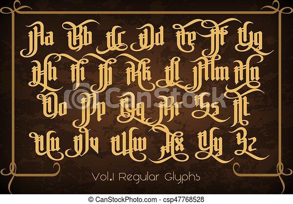 pontifice, vendange, -, étiquette, gothique, police - csp47768528