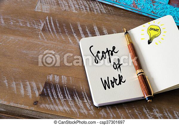 portée, travail, texte, manuscrit - csp37301697