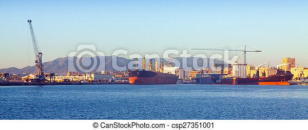 port, industriel, malaga - csp27351001