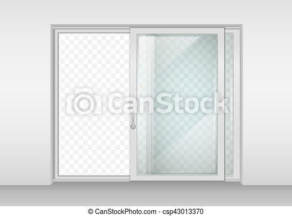 porte, contemporain, glissement - csp43013370