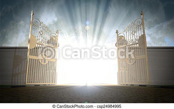 portes, ouverture, cieux - csp24984995