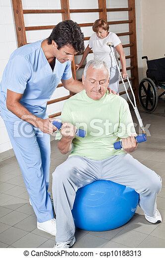 portion, thérapeute, patient, physique - csp10188313