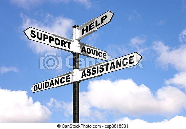 poteau indicateur, soutien, aide - csp3818331
